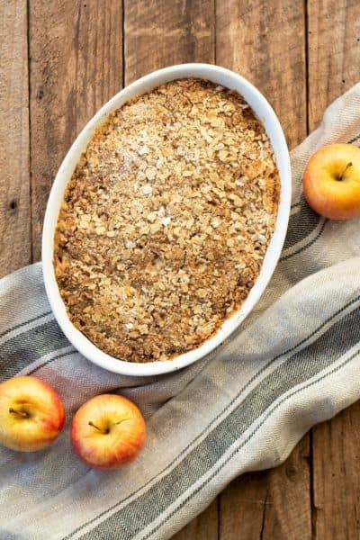 Thermomix Apple Crumble - you can't beat the traditional apple filling topped with crispy, buttery crumble, it's so scrumptious and comforting!