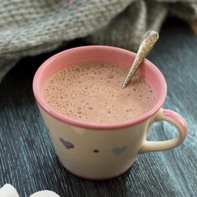 Thermomix Hot Chocolate made with Real Chocolate