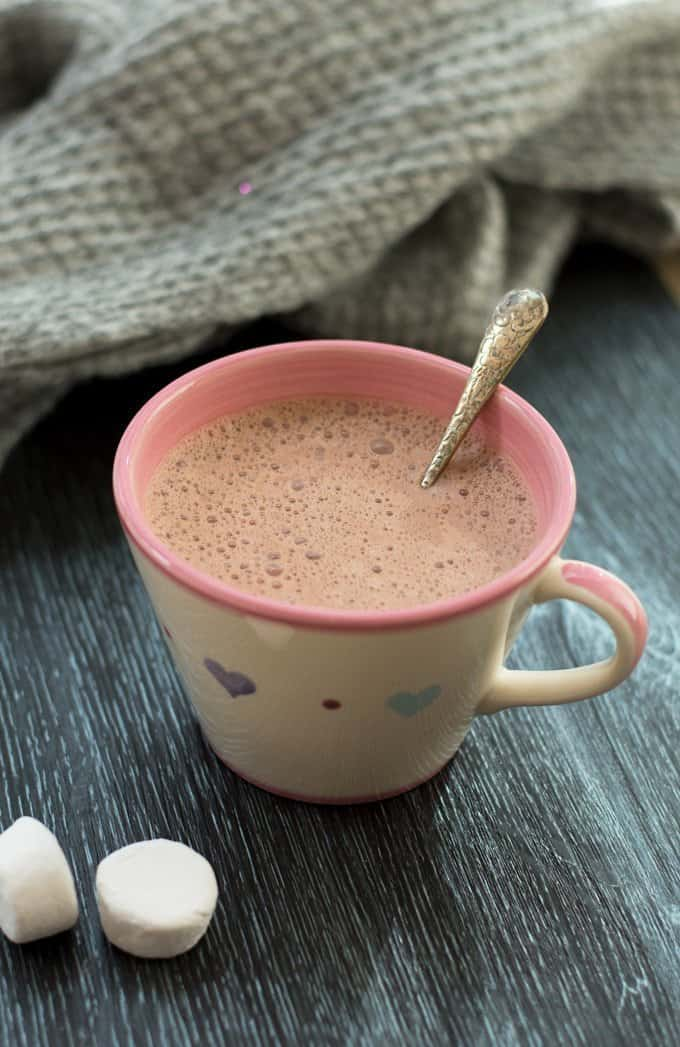 Thermomix Hot Chocolate - made with REAL chocolate, a perfect way to beat the winter chill!