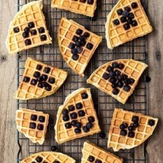Thermomix Buttermilk Waffles - crispy on the outside and fluffy on the inside, these waffles are a crowd pleaser!