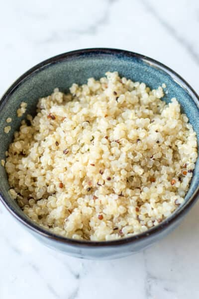 a bowl of cooked quinoa