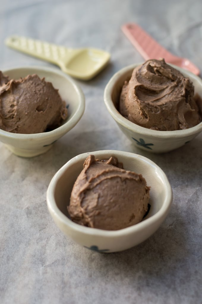 Thermomix Nutella Icecream - made with just 3 ingredients and ready in 1 minute.