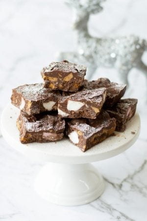 3 ingredients Christmas Rocky Road made in the Thermomix.