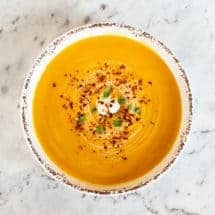 Thermomix Pumpkin Soup with Chilli and Ginger
