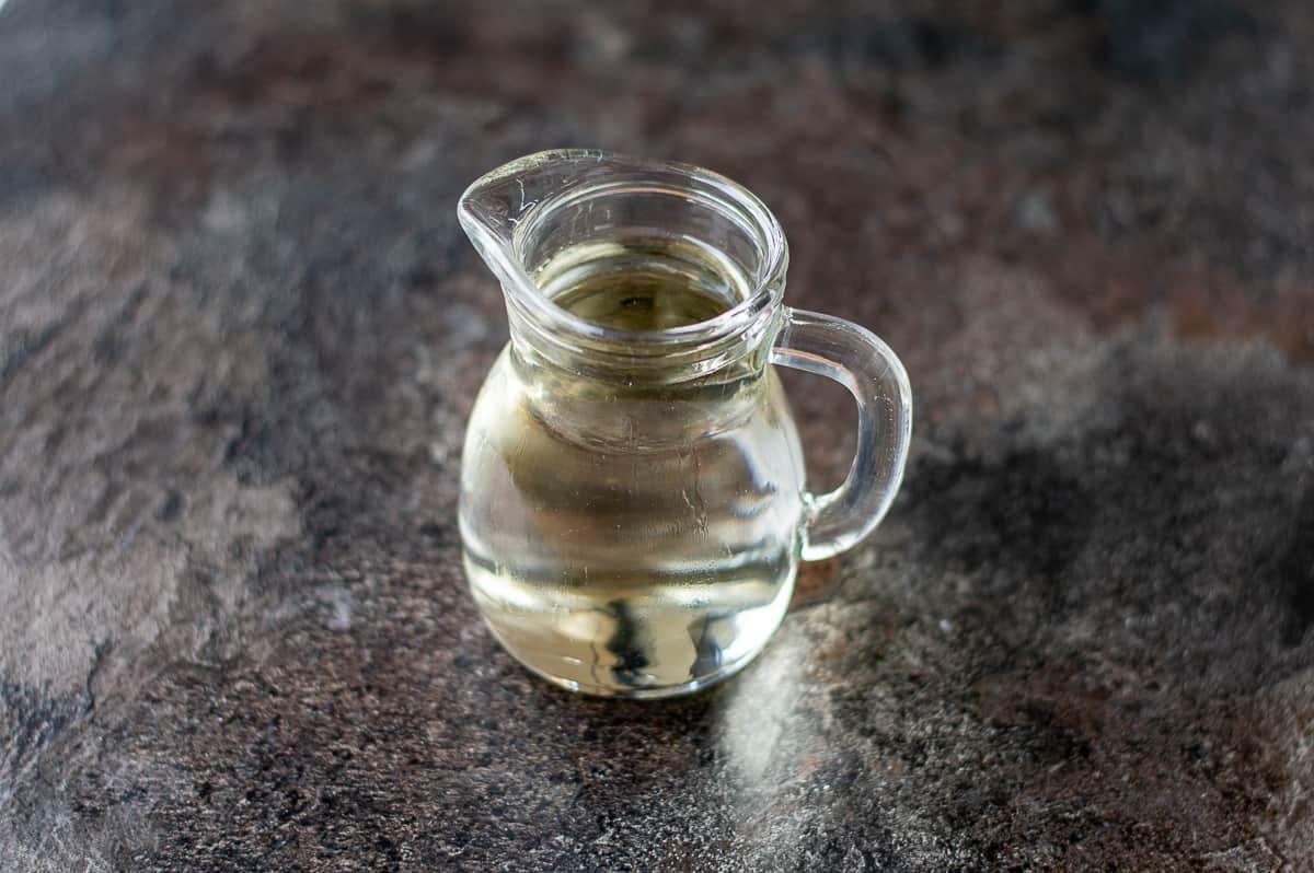 Sugar syrup in jug