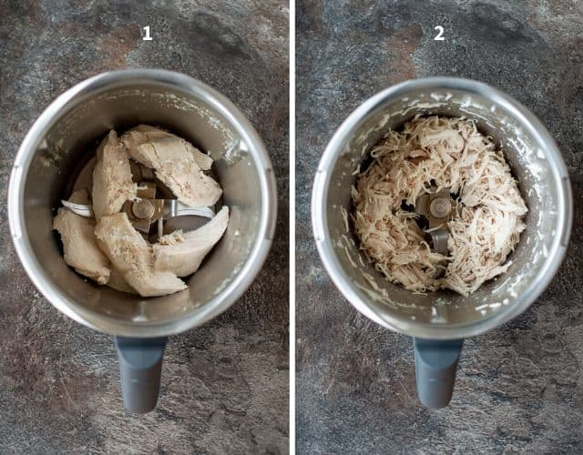 How to Shred Chicken in the Thermomix