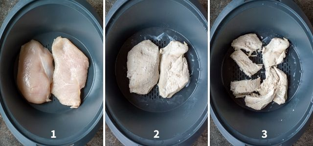 Steaming Chicken Breasts in the Varoma
