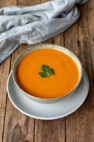A recipe for Thermomix Roasted Red Pepper and Sweet Potato Soup