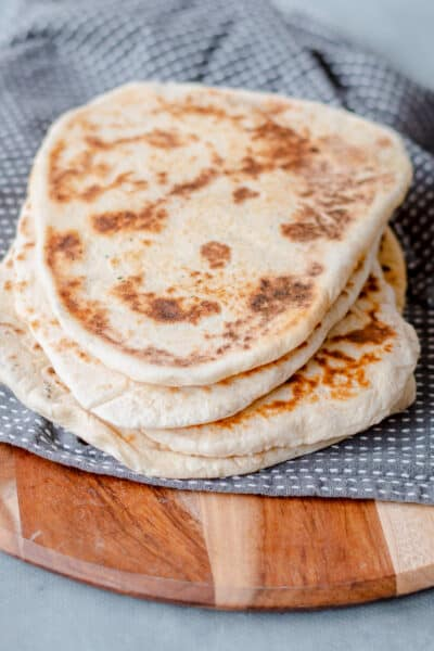 Homemade Naan Bread made in the Thermomix