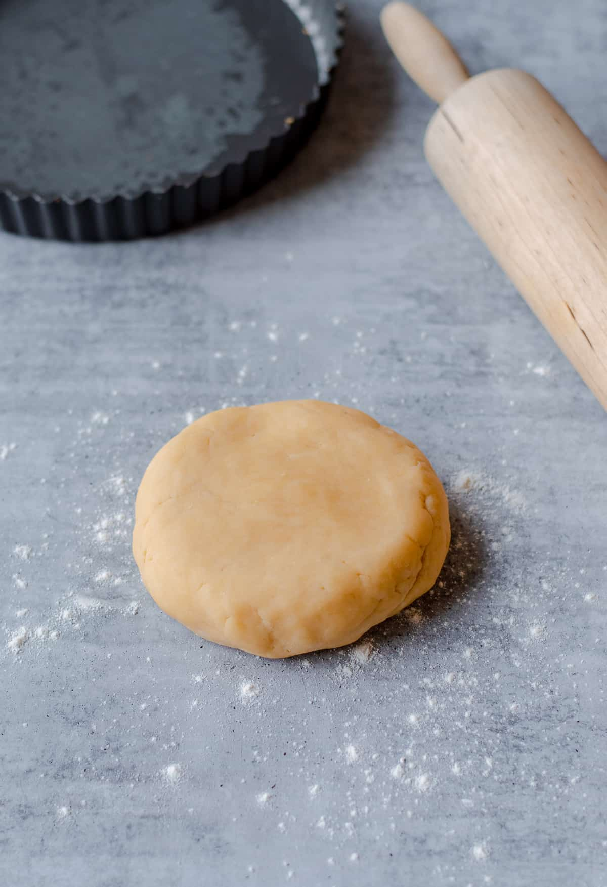 Raw Sweet Shortcrust Pastry ready to be rolled