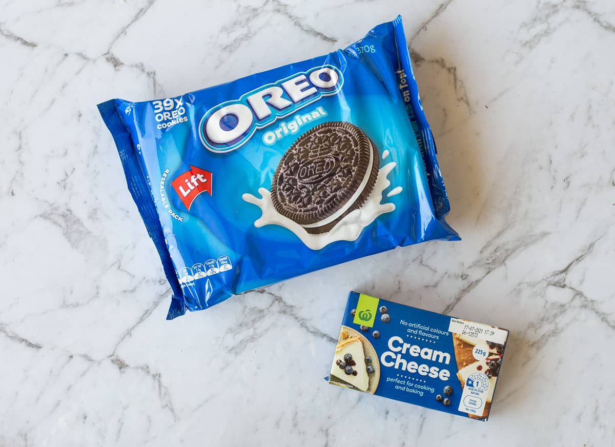 Oreo Packet and Cream Cheese Packet for making Oreo Balls