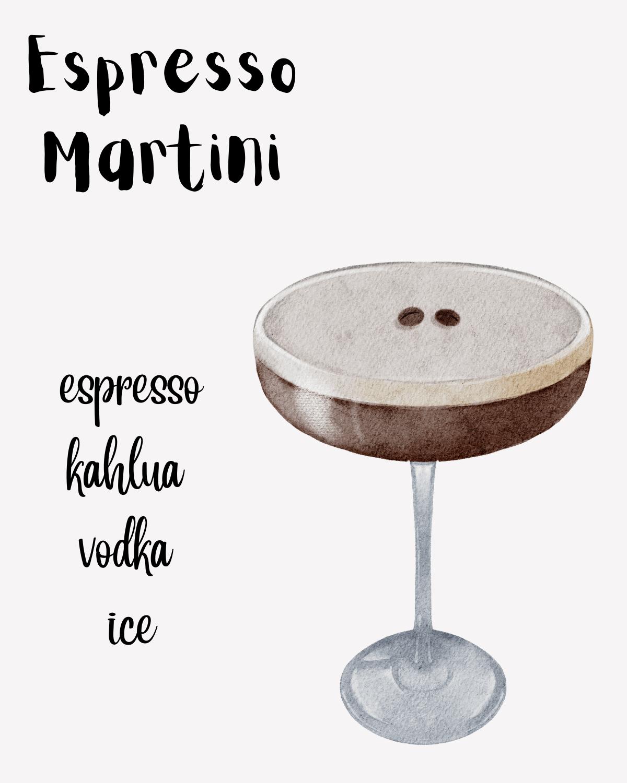 Espresso Martini graphic.
