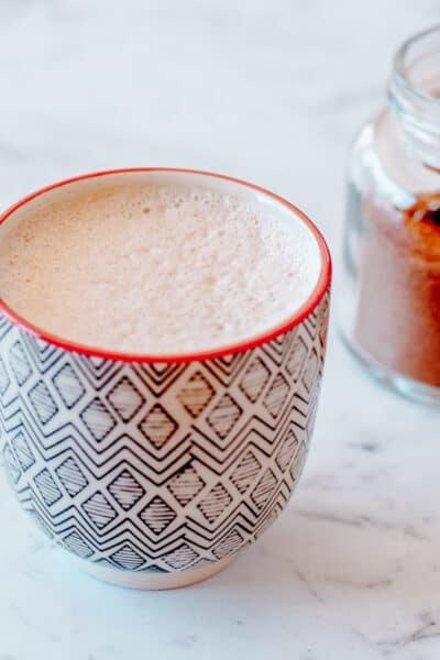 homemade chai spice latte