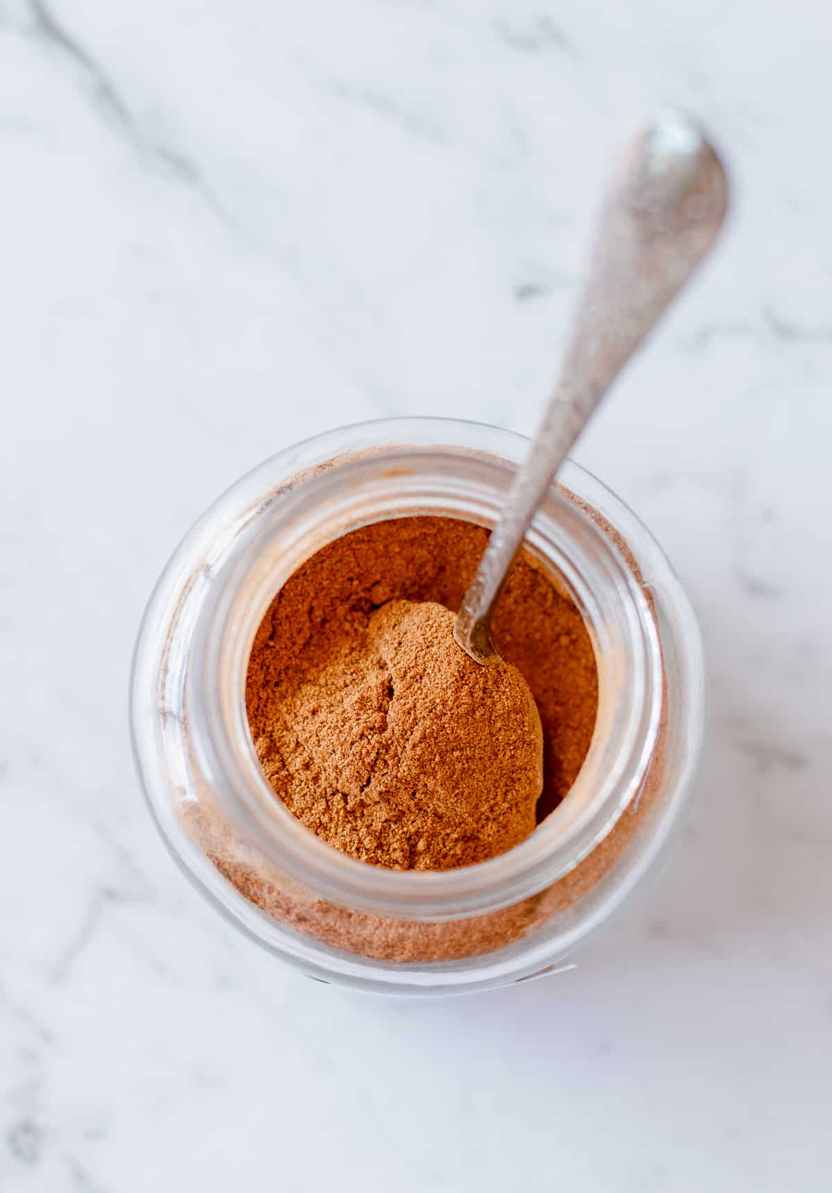 DIY Pumpkin Spice Mix in a glass jar