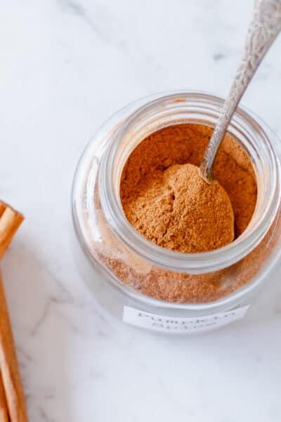 Pumpkin Spice Mix in a glass jar