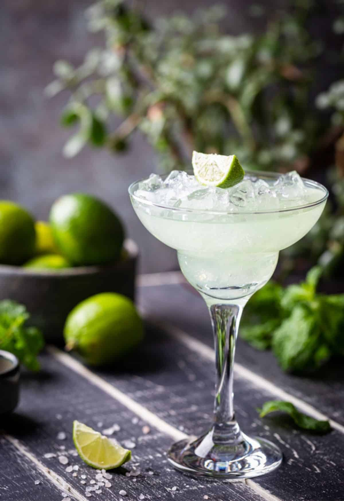 Lime Margarita and limes